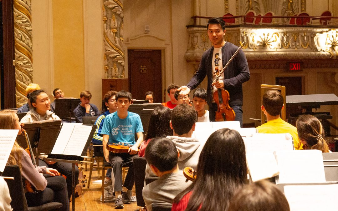 Ray Chen Visits PYSO Rehearsal