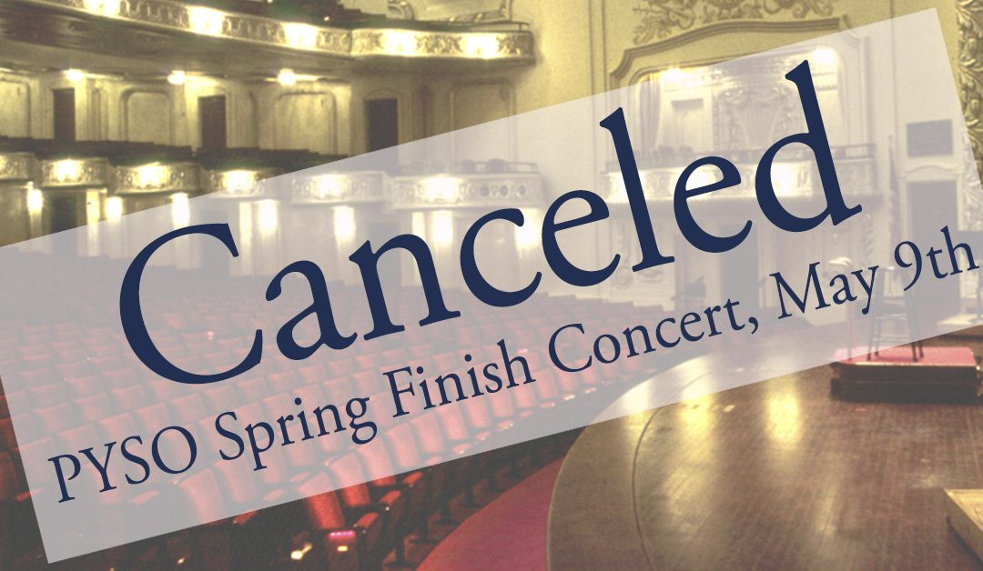 Canceled: May 9th Spring Finish Concert