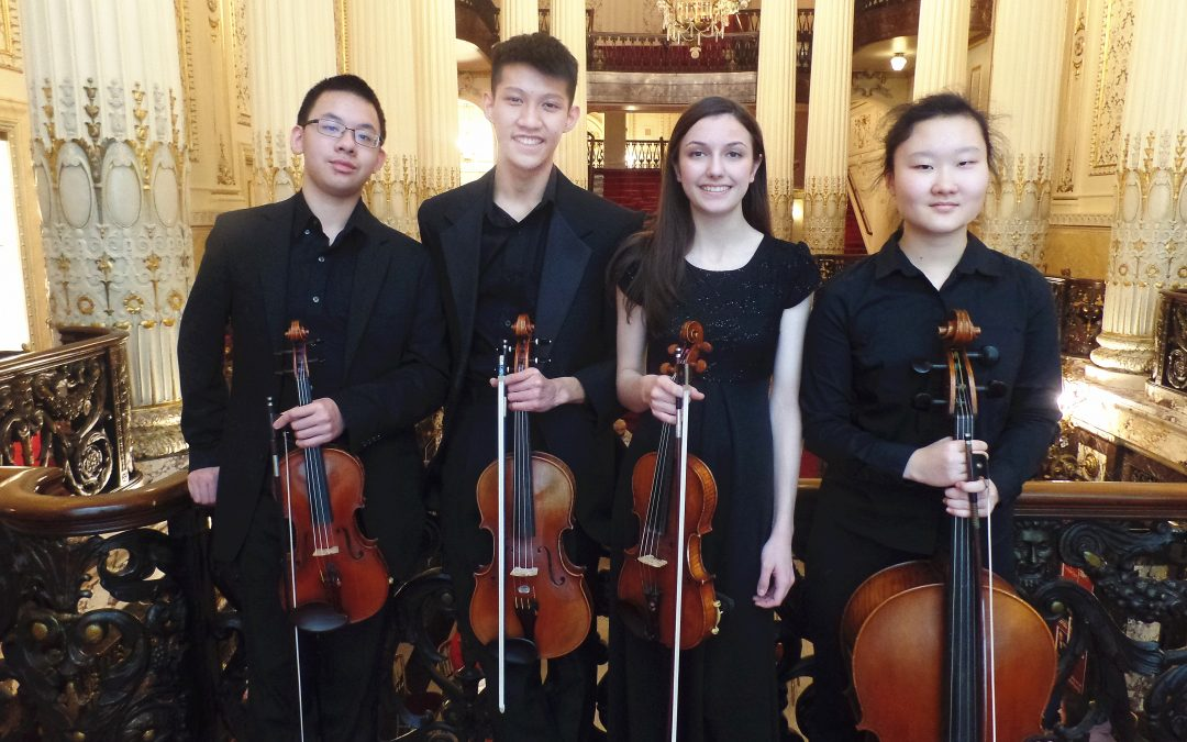 The Vivo String Quartet wins the American Prize in Chamber Music Performance, 2019-20, (high school division)