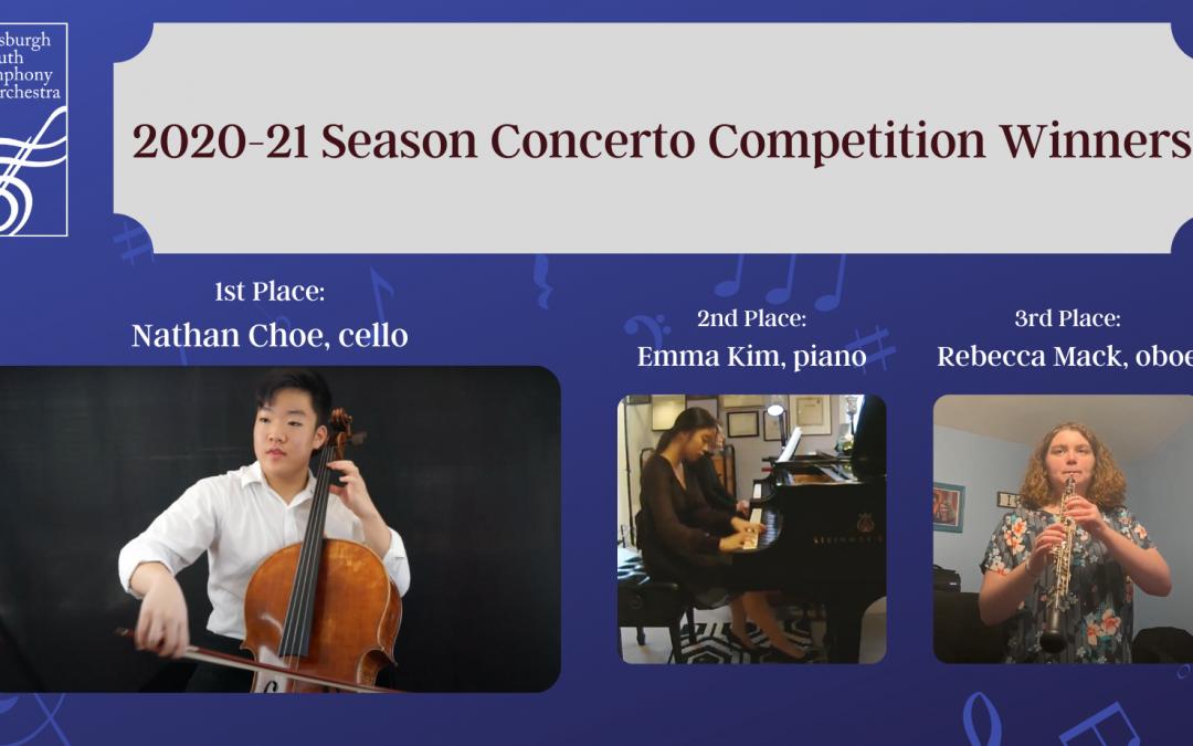 2020-21 Season Concerto Competition winners